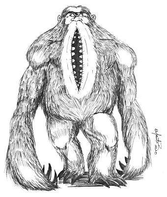 Mapinguari monstre légende forêt amazonienne
