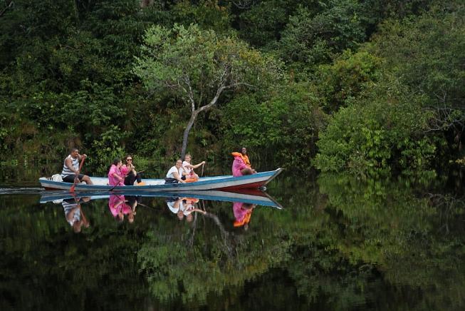 Kayak en Amazonie