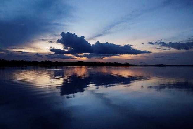 reflets fleuve amazonie brésil