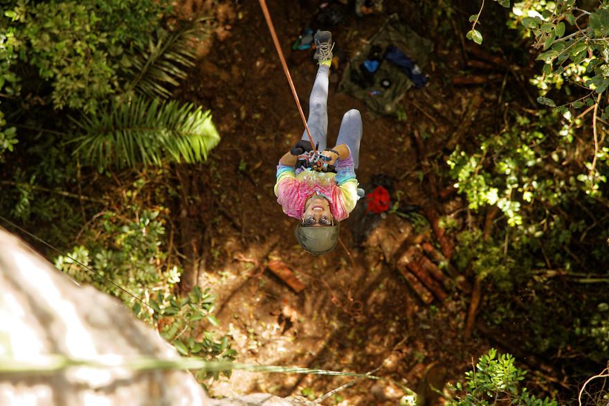 Tree climbing en Amazonie